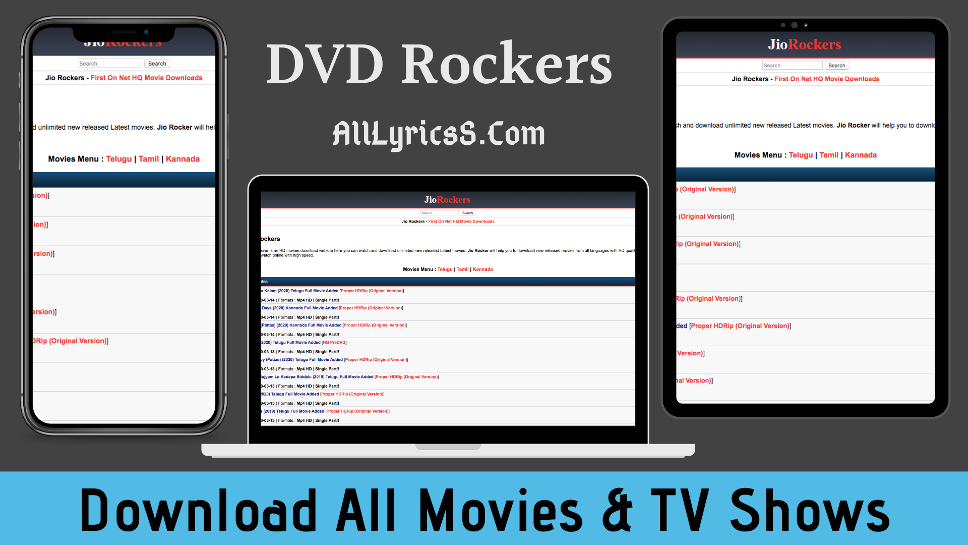 DvdRockers.com 2020 Download All Tamil Telugu Movies & TV Shows